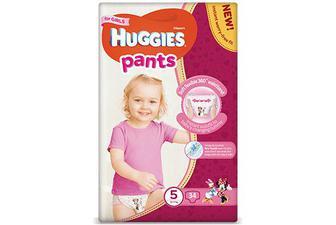 Підгузки-трусики Huggies Pants для дівчаток 5 (12-17 кг) 34 шт