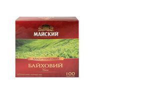 Чай чорний Байховий, Майский, 100*1,5г