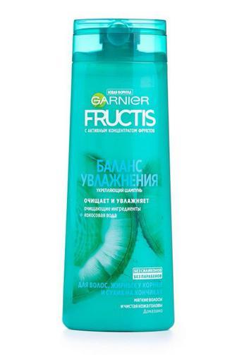 Шампунь FRUCTIS для жирных у кореней и сухих на кончиках волос Баланс Увлажнения 400 мл