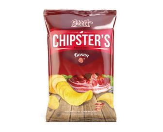 Чипси Flint Chipster's картопляні зі смаком бекону, 130г