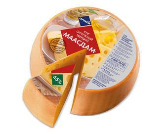 Сир «Маасдам» 45% жиру «Премія»®, кг