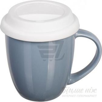 Чашка з кришкою Snug Gray 370 мл Fiora