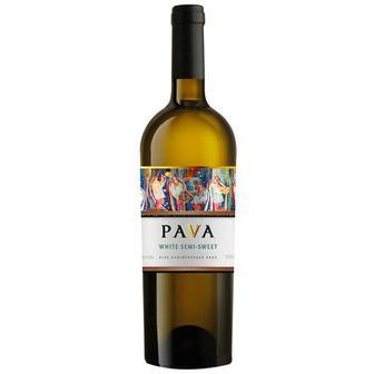 Вино біле, червоне напівсолодке Пава 0,75 л