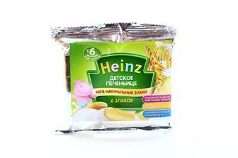 Печиво дитяче , Печиво Heinz 6 злаків дитяче, Heinz, 60 г