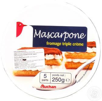 Сыр Ашан Маскарпоне мягкий 36% 500г Италия