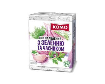 Сир плавлений «Комо» з зеленню та часником 55% жиру, 90г
