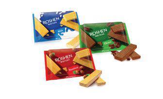 Вафлі Ваферс Молоко, горіх, шоколад Рошен 72 г