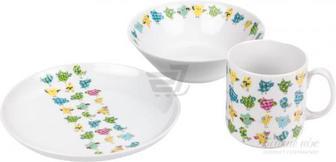 Набір дитячого посуду WALDENBURG Сови 3 предмети