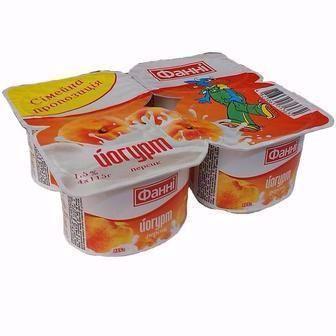 Йогурт Фанні Лісова ягода, Полуниця, персик 1,5% 115г