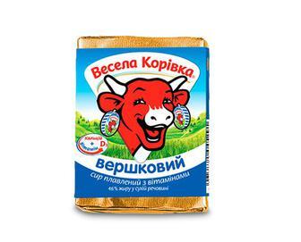 Сир плавлений «Вершковий»  «Весела Корівка» 90 г