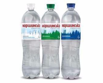 Вода мінеральна сильногазована/ негазована   Моршинська 1,5 л
