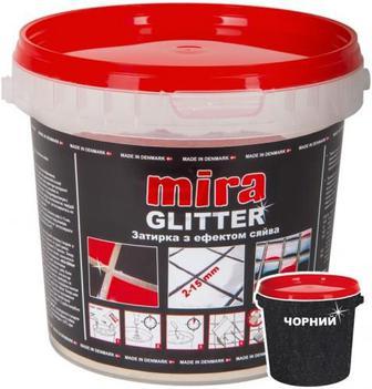 Фуга MIRA Glitter lava 1 кг чорний