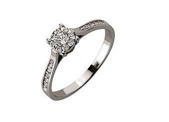 Золотое кольцо с бриллиантами Артикул 01-17435820