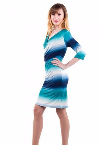Платье с качелькой бирюзовое
