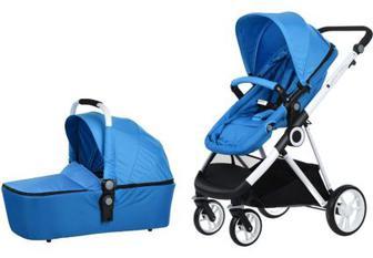 Дитяча коляска універсальна 2 в 1 Miqilong Mi baby T900 Синій (T900-U2BL01)
