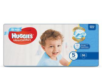 Підгузки Huggies Ultra Comfort для хлопчиків 5 (12-22 кг) 56 шт./уп