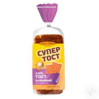 Хліб «Супер Тост» злаковий Київхліб 350 г