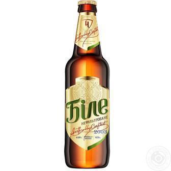 Пиво світле Біле нефільтроване Чернігівське 0,5 л