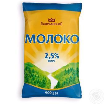 Скидка 17% ▷ Молоко 2,5% Галичина 900г