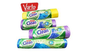 Пакети для сміття 35 л, 60 л в Варто Клін, 10 шт, 15 шт, 30 шт, 40 шт