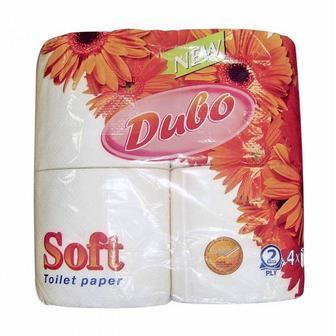Папір туалетний бiлий aбо жовтий та рушники паперові   Диво 2-х шаровий 4 шт.