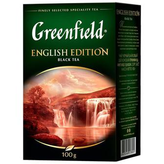 Скидка 28% ▷ Чай Greenfield English Edition чорний 100г
