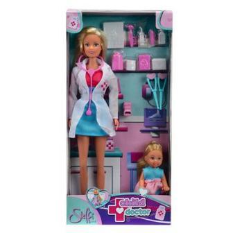 Куклы Штеффи и Эви Детский врач с аксессуарами Simba (5730934)
