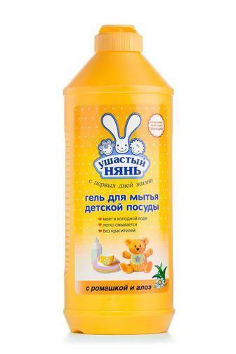 Гель для мытья детской посуды Ушастый нянь с экстрактом ромашки и алое, 500мл