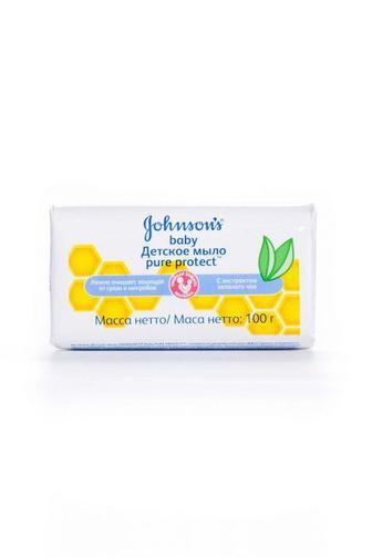 Мыло Johnson's baby детское с экстрактом зеленого чая 100 г