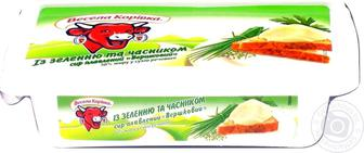 Сир Весела корівка плавлений із зеленню 60% 180г