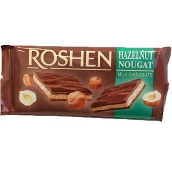 Шоколад молочний з горіховою нугою, Рошен, 90 г