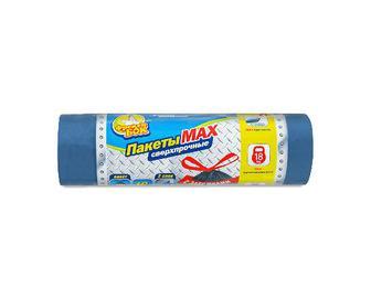 Пакет для сміття «Фрекен Бок» Мах із зав'язками багатошарові сині, 70л, 10шт/уп