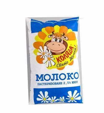 Молоко 2.5% пастеризоване  Коляда   900 г