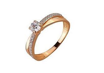 Золотое кольцо с фианитами Артикул 01-17506464