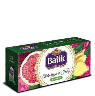 Чай зелений грейпфрут та імбир/малина та м'ята  Batic 20пак