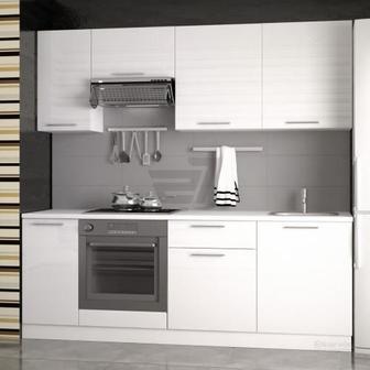 Кухня Дарина білий глянець МДФ 2,2 м