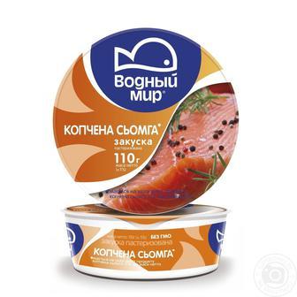 Закуска Копчена сьомга/лососева Водный Мир 110г
