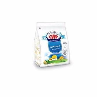 Сир кисломолочний 5% Домашній Білоцерківський фасований 400 г