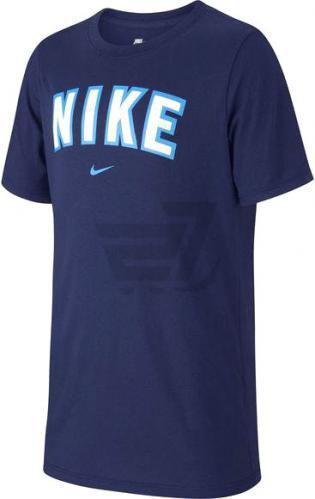 Футболка Nike B NSW TEE NIKE BLOCK AH9483-478 L синій