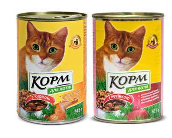 Корм для котів з куркою/печінкою, Повна Чаша, 415 г