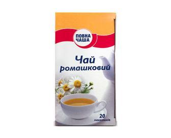 Чай ромашковий Повна Чаша, 20×1,35 г