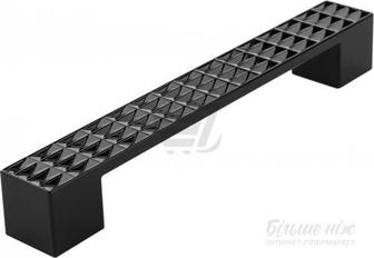 Меблева ручка 160 мм чорний Poliplast 0303DVE BL
