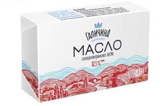 Масло Галичина сладкосливочное экстра 82,5% 200г
