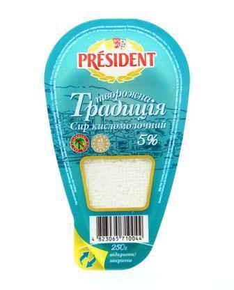 Сир к/м ворожна Традиція 5% President 250 г