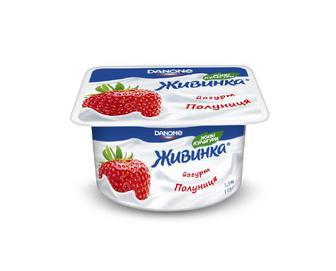 Йогурт молочний «Живинка» 1,5% жиру полуниця, 115 г