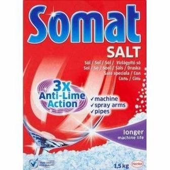 Сіль для посудомийних машин Salt 1,5 кг Somat