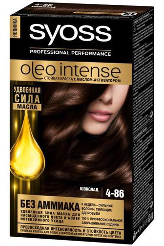 Краска для волос SYOSS Oleo тон4-86 Шоколад