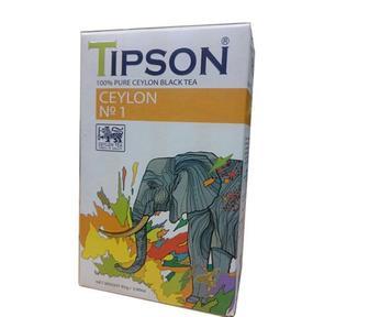 Чай Tipson черний або зелений Цейлонский 85 г