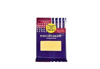 Сир -18% твердий Російський або Король сирів 50%, Голландський 45% або Грація 20%, Пирятин 160 г