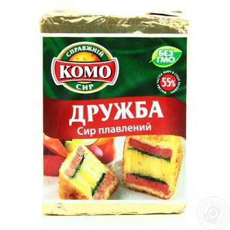 Сир плавлений з грибами або Тартар або Дружба 55% Комо 90 г